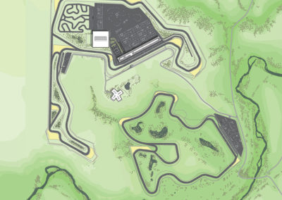 RESORT PHASE 1 - In partnership with a hospitality partner, a unique hotel overlooking the splendid Rosebud River Valley could be established, alongside additional recreational opportunities that would help establish Badlands Motorsports Resort as an attraction for non-drivers.
